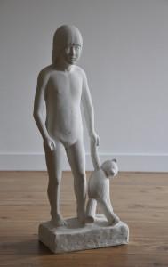 solitude, 2006, plaster, h.79 cm