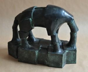 beast, 2009, bronze, 30x13x28 cm
