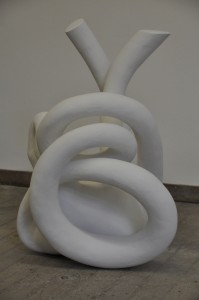 Ambiguous creature, 2011, polystryene, plaster, 50x55x90 cm